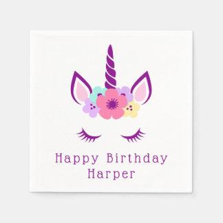 Happy Birthday | Magical Unicorn Paper Napkins
