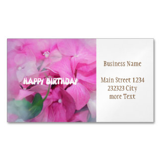 happy birthday magnetic business cards