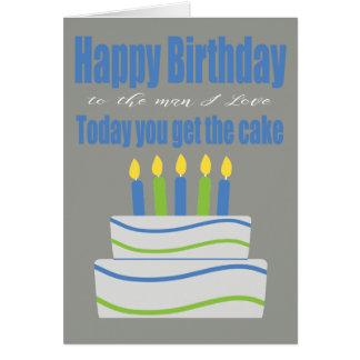 Happy Birthday Man I Love Funny Birthday Card