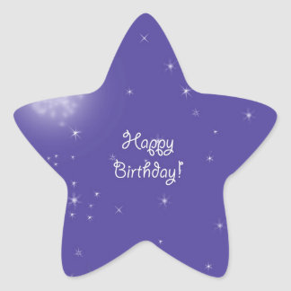 Happy birthday Midnight Moon Fantasy Star Sticker