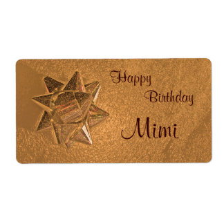 Happy Birthday Mimi Gift Tag Shipping Label