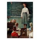 Happy Birthday, Miss Jones by Norman Rockwell Card