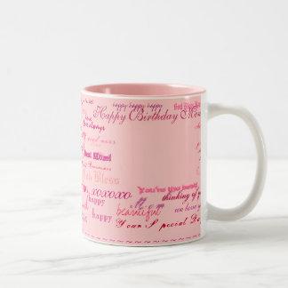 """Happy Birthday Mom!"" color mug"