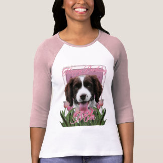Happy Birthday Mom English Springer Spaniel Baxter T-Shirt