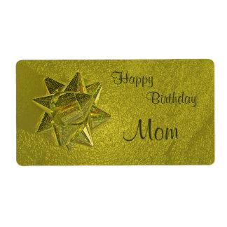 Happy Birthday Mom Gift Tag Shipping Label