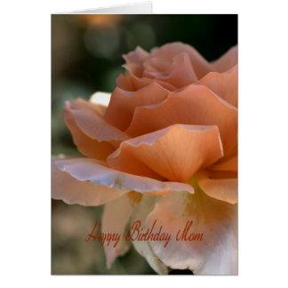 Happy Birthday Mom - Orange Rose Card