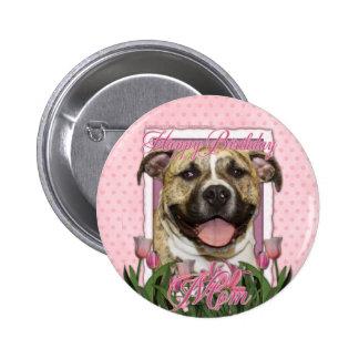 Happy Birthday Mom - Pitbull - Tigger Pinback Buttons