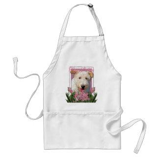 Happy Birthday Mom -  Wire Fox Terrier - Hailey Adult Apron