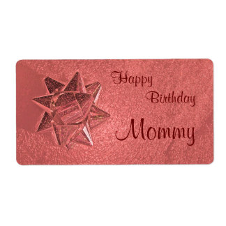 Happy Birthday Mommy Gift Tag Shipping Label
