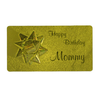 Happy Birthday Mommy Gift Tag Shipping Label