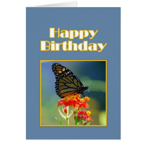 Happy Birthday Monarch Butterfly Cards