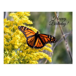 Happy Birthday Monarch Butterfly Postcard