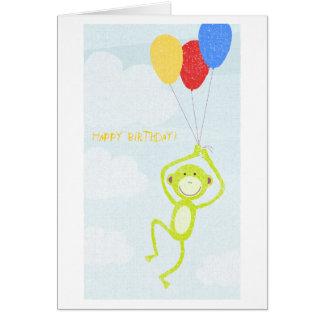 Happy Birthday Monkey (editable text) Card