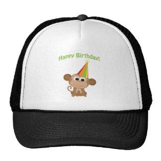 Happy Birthday Monkey Trucker Hat