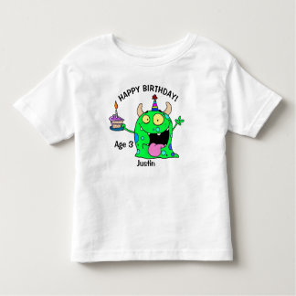 Happy Birthday Monster YOUR NAME & Age T-Shirt Boy