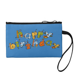 Happy Birthday Monsters Child's Coin Clutch