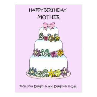 Happy Birthday Mother from Daughter & her wife Postcard