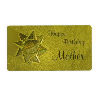 Happy Birthday Mother Gift Tag Shipping Label