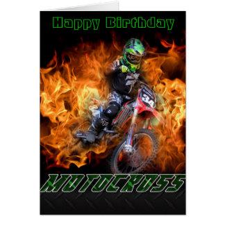 Happy Birthday Motocross card