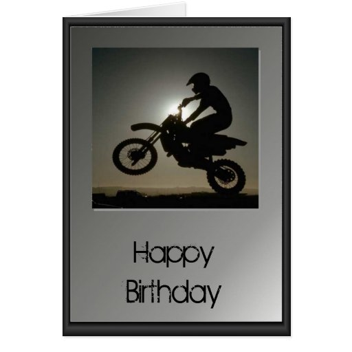Happy Birthday - Motocross Cards