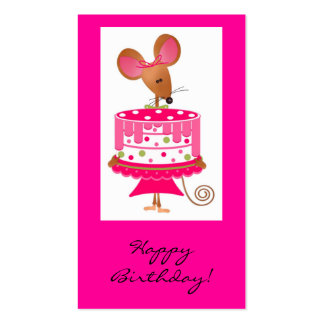 Happy Birthday mouse gift tag Pack Of Standard Business Cards