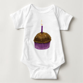 Happy Birthday Muffin Baby Bodysuit