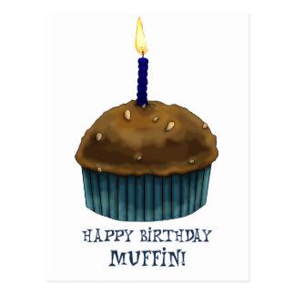 Happy Birthday Muffin Postcard