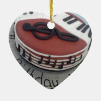 Happy birthday mum cake ceramic ornament