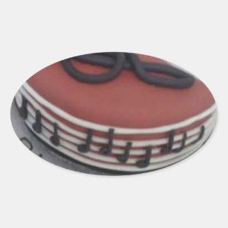 Happy birthday mum cake oval sticker