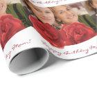 Happy Birthday mum custom roses Wrapping Paper