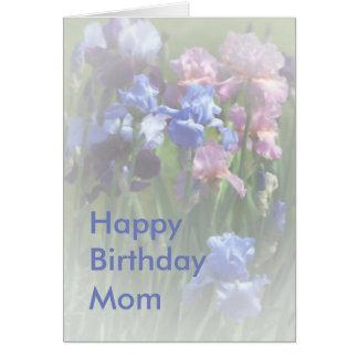 Happy Birthday Mum Summer Iris Template