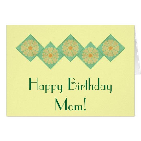 Happy Birthday Mum! Yellow & Green Flower Notecard