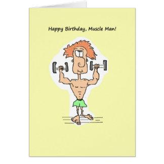 Happy Birthday, Muscle Man Card. Card