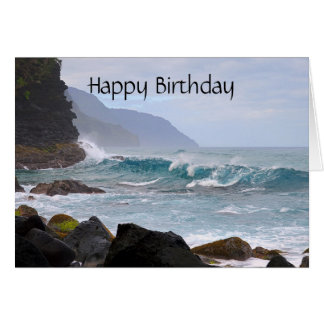Happy Birthday, Na Pali Coast on Kauai Card