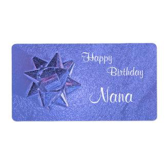 Happy Birthday Nana Gift Tag Shipping Label