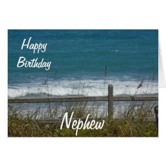 Happy Birthday Nephew-Ocean Waves Card