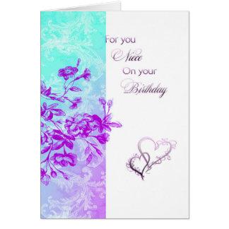 Happy Birthday Niece (purple) Card