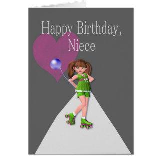 Happy Birthday Niece, Rollerskates Card