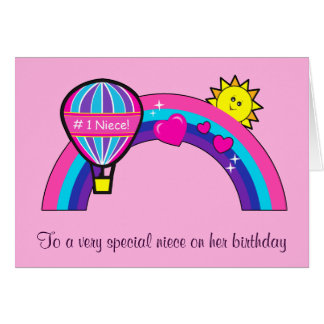 Happy Birthday Niece with Sun and Rainbow Card
