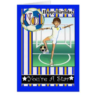 Happy Birthday, No1 Soccer, Football Card