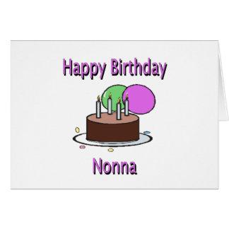 Happy Birthday Nonna Italian Grandma Birthday Desi Card