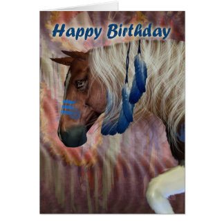 Happy Birthday North American Horse Greeting Card