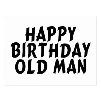 Happy Birthday Old Man Postcard