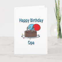 happy birthday opa german grandpa birthday design cards