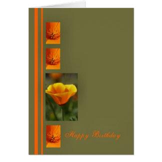 Happy Birthday Orange Card