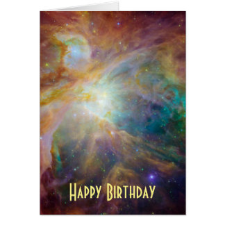 Happy Birthday - Orion Nebula Astronomy Photo Greeting Card
