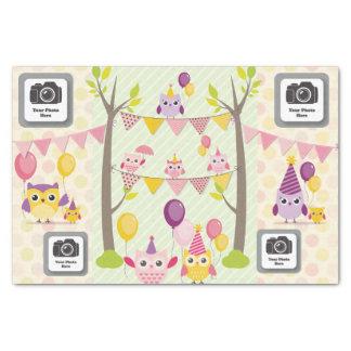 Happy Birthday Owls Tissue Paper