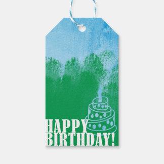 Happy Birthday Paint Brush Gift Tag