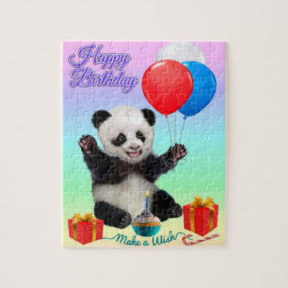 HAPPY BIRTHDAY PANDA JIGSAW PUZZLE