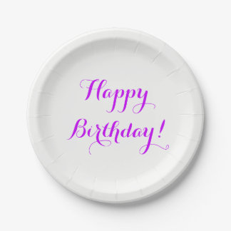 Happy Birthday Paper Plates 7 Inch Paper Plate